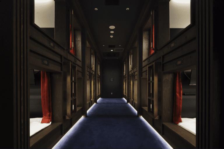フィージビリティ・スタディ, 銀座のカプセルホテル